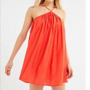 Urban Outfitters Orange Romper Dress